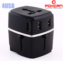 Hot selling Newest 4USB chargers all in one Travel Adapter,universal travel adapter with 4 USB charges
