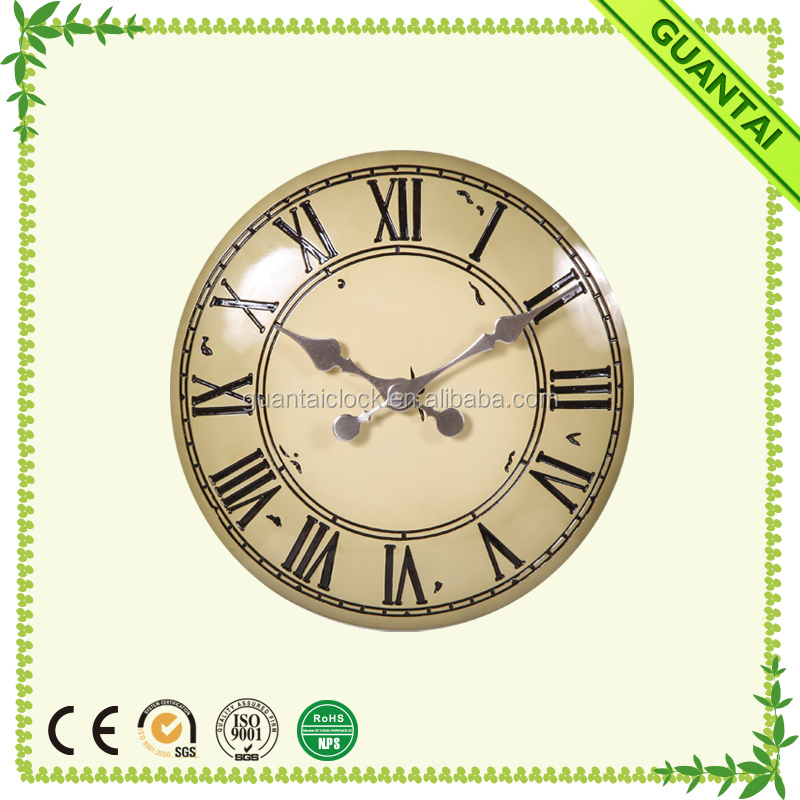 Vaulted Resin Body and Crazy Price Oversized Wall Clocks for Outdoor