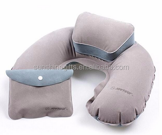 high premium poratable inflatable travel neck pillow
