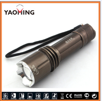 rechargeable led torch Flashlight Telescopic Focusing Tail Switch 6 Modes Cree XML T6 LED LED Aluminum Flashlight Torch