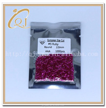 #5 2.0mm Ruby Gemstone Material and Natural Gemstone Type ruby rough stones
