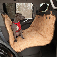 customized double staining pet car seat cover quilted