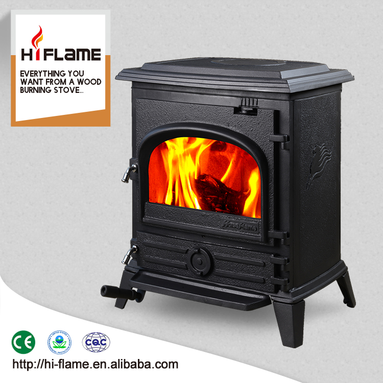 HiFlame Low price freestanding fireplace cast iron wood burning stoves indoor factory firectly sale stoves HF517U