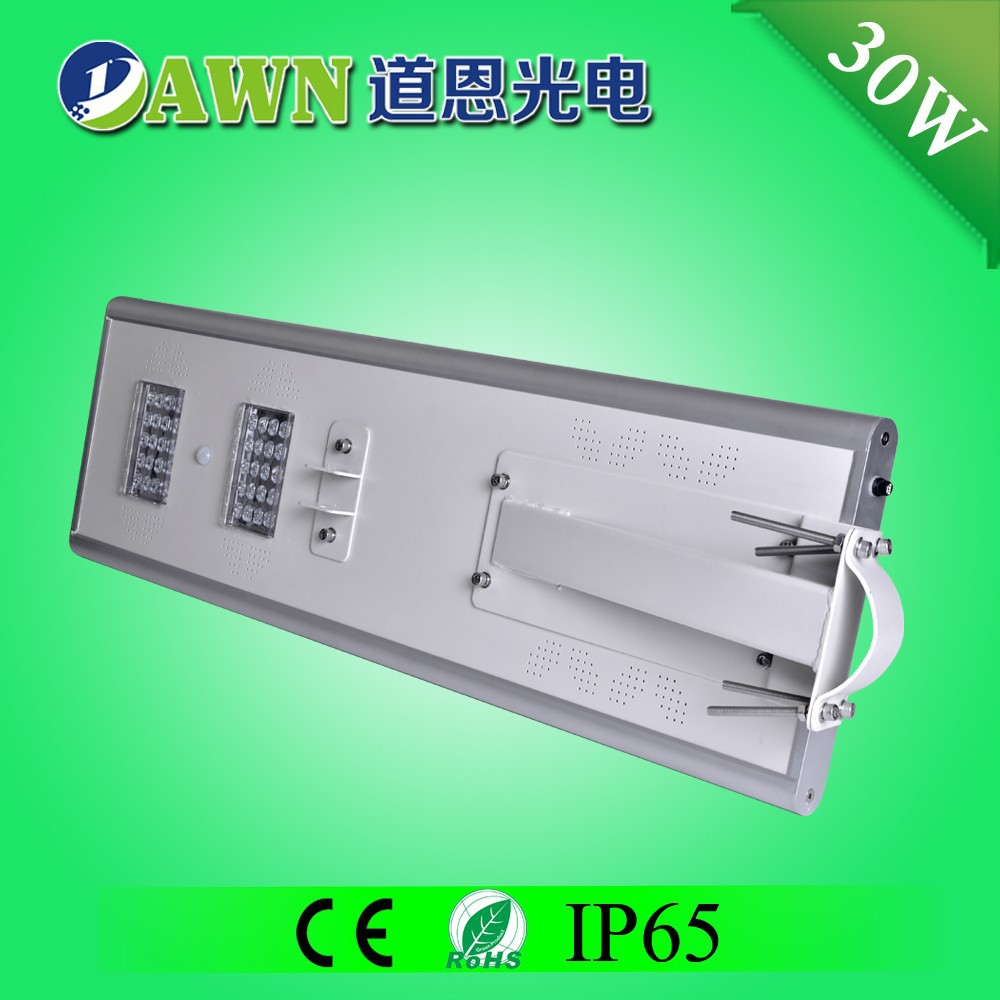 30W 2015 new product waterproof integrated all in one solar led street light sunpower price list