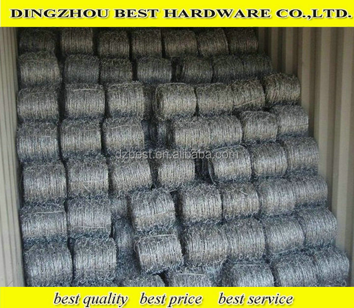 HOT SALE! Hot dipped/electro Galvanized barbed wire, IOWA, MOTTO, PUMA BWG14*14 BWG16*16 200m/250m/400m/500m