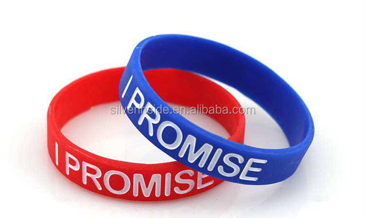 I PROMISE Silicone Sports Adult Size M Wristband Rubber Bracelet Band,rubber band bracelet patterns