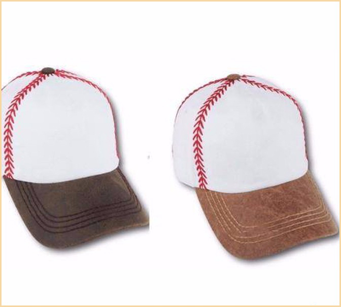 Wholesale Dark Brown Handmade Embroidered Stitch Baseball Caps