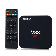 SCISHION V88 Smart TV Box RK3229 Android 5.1 1.5Hz Quad Core 4K H.265 8GB ROM Smart Media Player Set-top Boxes vs V88 Plus