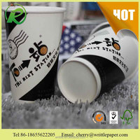 China hot sale keep hot drinking paper cups for cow