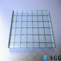 tempered glass fireproof safety wired glass