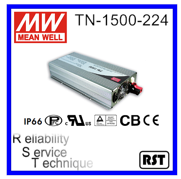 TN-1500-224 True Sine Wave Mean Well 1500W 230V 75A Solar Charger DC-AC Inverter