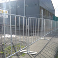 Temporary safety crowd control barrier