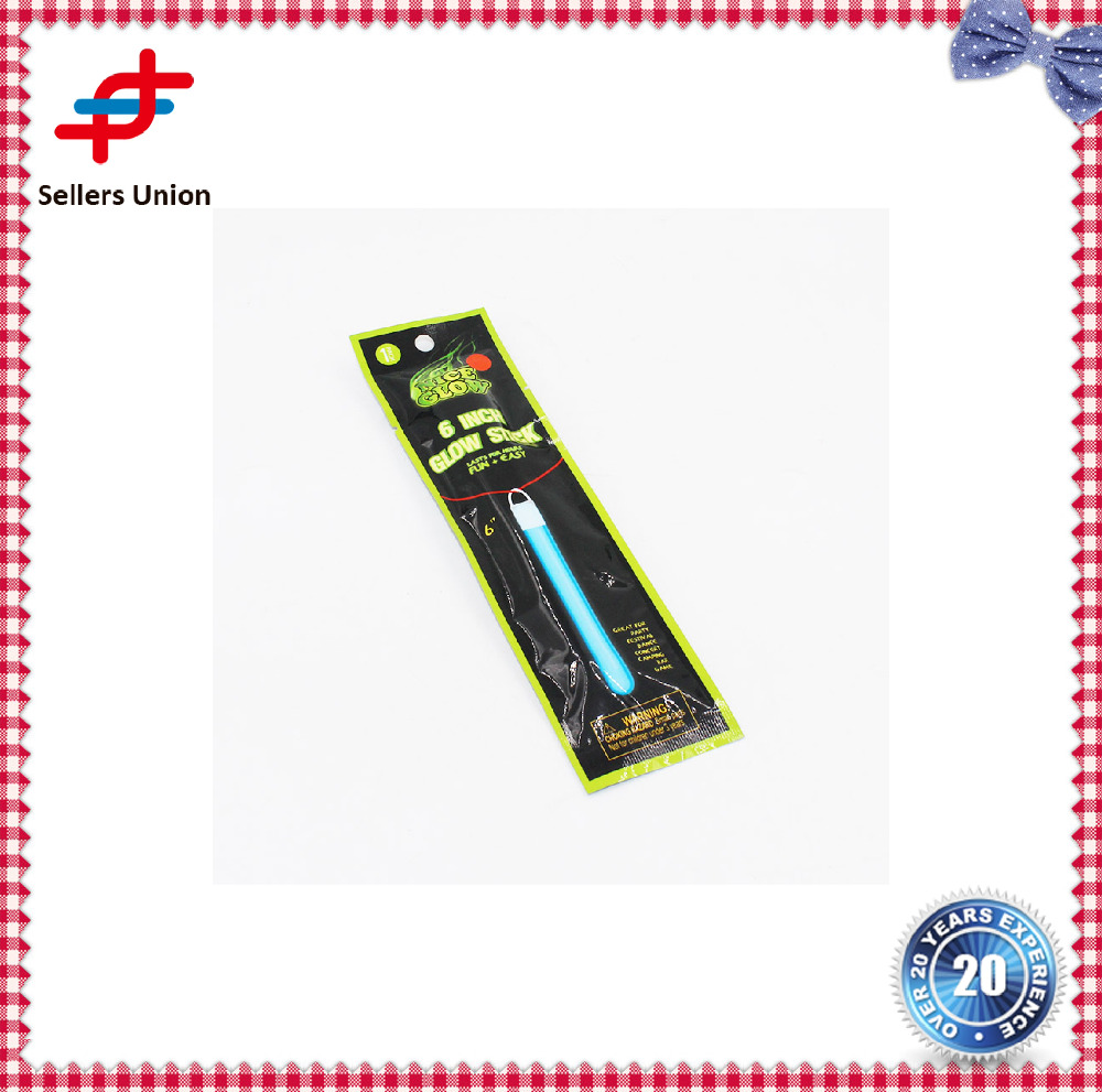"glow in the dark Slim 6"" Glow Stick gift different type manufacturer"