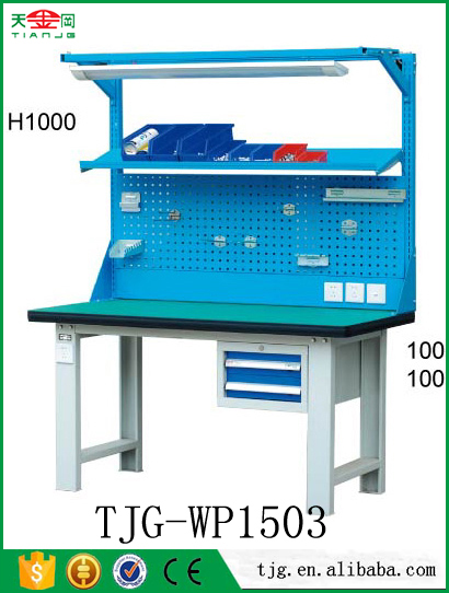 TJG heavy duty warehouse workbench electronic work tables metal