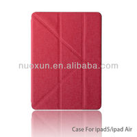 Fashionable leather notebook cover for ipad