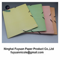 3 flap A4 with elastic band closure paper file folder