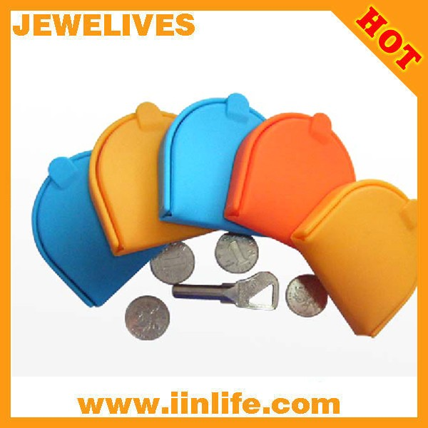 Reasonable price high quality candy color silicone coin wallet