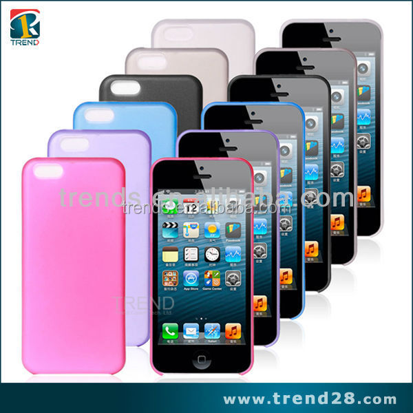 light weight durable easy to install and remove transparent pp plastic case for iphone 5C