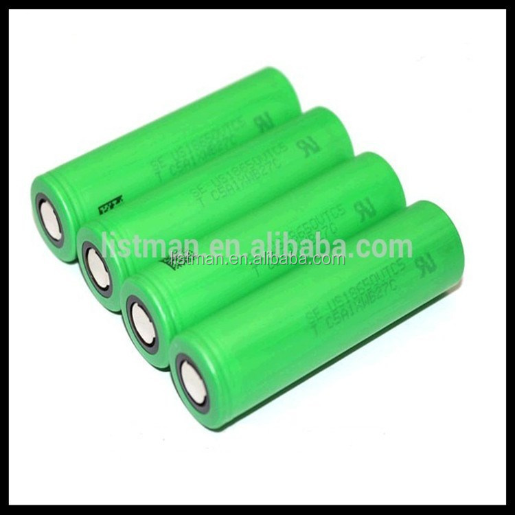 100% authentic VTC3 VTC4 VTC5 18650 battery 1600mah 2100mah 2600mah VTC lithium 18650 battery 3.7V 30A fit for ecig mods