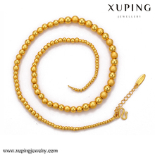 0028 xuping dubai's golden ball chain length necklace fashion jewelry necklace