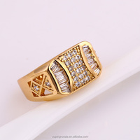 12135-xuping 18K Gold color Men's Gold Ring