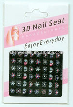 different shape or pattern nail foil sticker
