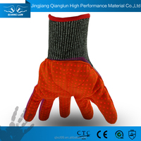 QL Coated Working nitrile glove micro fabric gloves