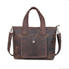 Guangzhou manufacturers shoulder tote handbag genuine leather travel bag