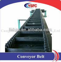 corrugated sidewall conveyor belt