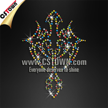 Wholesale bling hot fix rhinestone cross iron on transfer