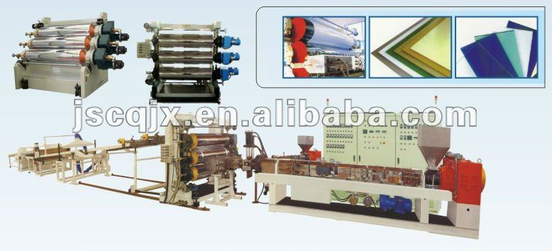 Plastic PP Corrugated sheet Extrusion machine/plant