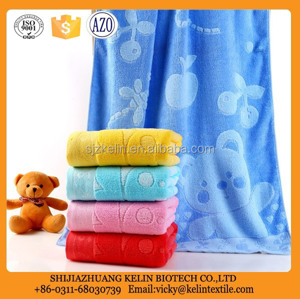 yarn dyed Little Bear jacquard 100% cotton bath towel