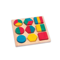 Promotional EN 71 handmade kids popular montessori wooden toys Fraction action board,montessori materials
