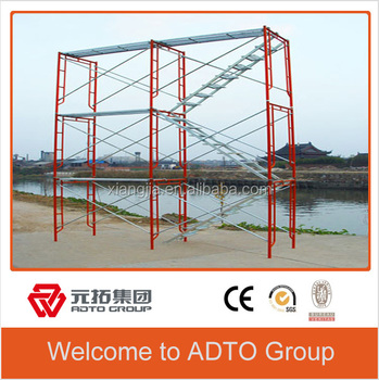 For africa Low price and High quality Q345 portable galvanized scaffolding gate frame for construction