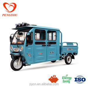 battery-operated Electric Motorcycle/Hot Sell Closed Cabin Electric Tricycle Tuk Tuk for Cargo