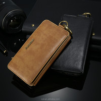 2016 new original black cover wallet high quality leather phone case for IPhone 6 6s plus