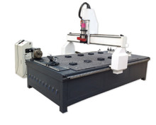 cnc equipment with tool change for flat and column carving