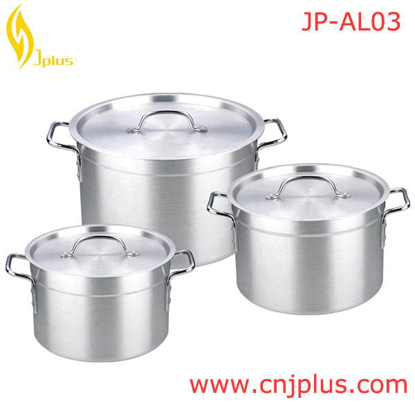Hot Sale Heavy large capacity Duty Kitchenware Aluminum Cooking Pot