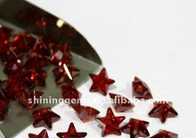 magnetic beauty garnet finely processed star cut cz beads