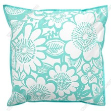 Brand new print light blue flower office chair back support cushion