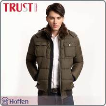 China wholesale brand name fashion padded jackets for men