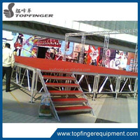 Round used portable outdoor stage, concert stage for sale
