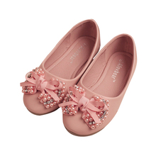 SD01-75 Guangzhou genuine leather elegant girl party wear kids shoes