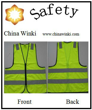 Hi-Viz Reflective Safety Clothing With Reflective Tape On THE Shoulder And Zip Closure