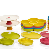 100% natural biodegradable bamboo fiber tableware,bamboo chip&dip