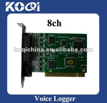 8 channels 8ch PCI voice recording card