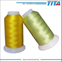 TITA supply high tenacity 120d/2 polyester embroidery thread for machine