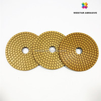 "MIDSTAR 4"" wet and dry polishing pads, diamond and resin bond"