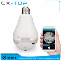 IPC360 ShowMo Free APP E27 2MP Len Indoor Outdoor 360 Degree Fisheye Panoramic HD IP Led Wifi Light Bulb Camera