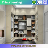 high quality low price Customized modern wood door designs bedroom furniture walk in wardrobe